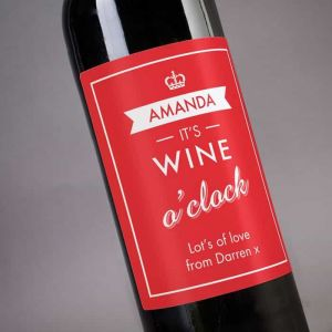 Personalized Wine It's Wine O'clock| Dottedi