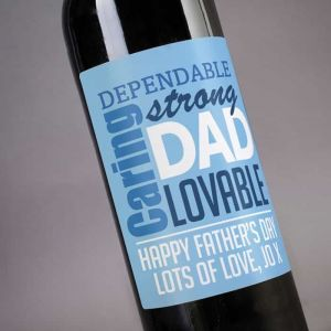 Personalized Wine Lovable Dad| Dottedi