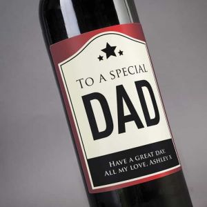 Personalized Wine To A Special Dad| Dottedi