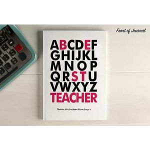 Personalized Notebook ABC Best Teacher| Dottedi