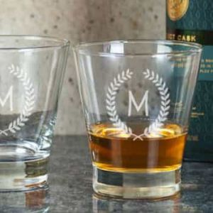 Personalized Whiskey glasses| Dottedi