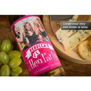 Personalized Wine Bottle Hen party| Dottedi