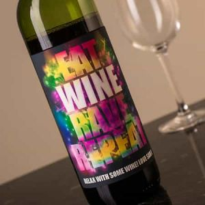 Personalized Wine Bottle Cosmic| Dottedi