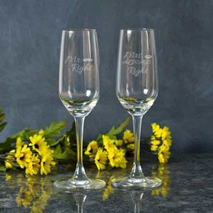 Personalized Champagne Glasses| Dottedi