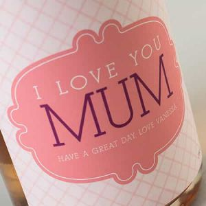Personalized wine Bottle I love Mum| Dottedi