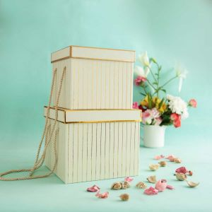 Pin Stripe Cream Gift Box| Dottedi