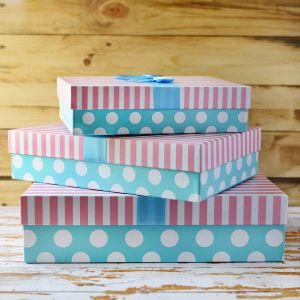 Pink and Blue Rectangular box| Dottedi