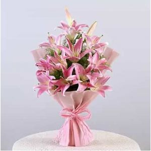 Pink Lilies in a Flower Box| Dottedi