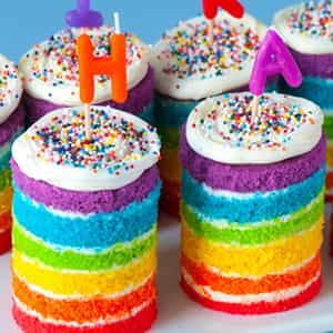 Rainbow Tea Cakes| Dottedi
