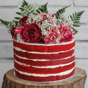 Red Velvet Naked cake | Dottedi