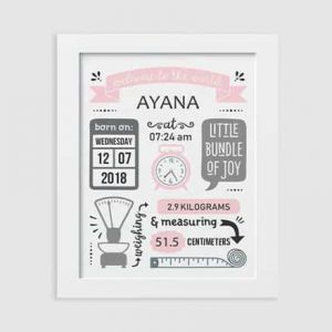 Birth Board - Retro Pink| Dottedi