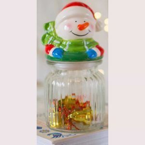 Snowman Cookie Jar| Dottedi
