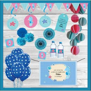 Sea Horse Themed Party In A Box| Dottedi