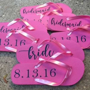 set of 4 bridal flip flops| Dottedi