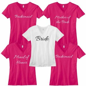 Set of 5 bride t shirt| Dottedi