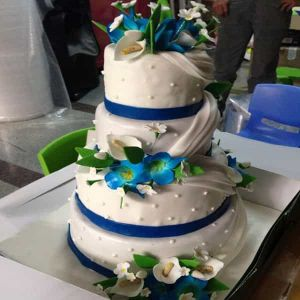 Sugarcrafted Wedding Cake | Dottedi