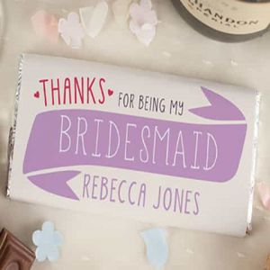 Personalized Chocolate Wrapper: Thanks for being my bridesmaid| Dottedi