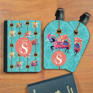 Passport holder + 2 luggage tags - Unicorn | Dottedi