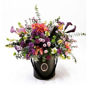 Abstract Floral Black Beauty