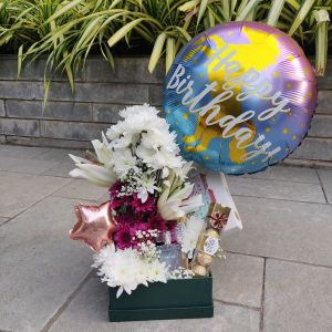 Balloon and Flowers Gift Hamper