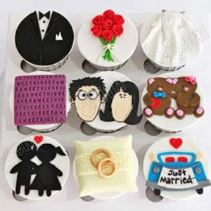 Wedding Themed Cupcakes| Dottedi