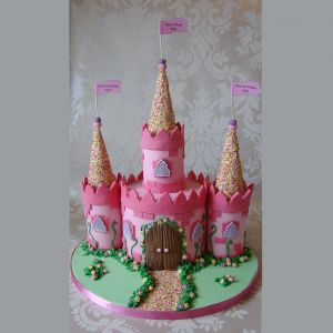 Whimsical Castle Cake