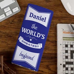 Personalized Chocolate Wrapper: World Greatest boyfriend| Dottedi