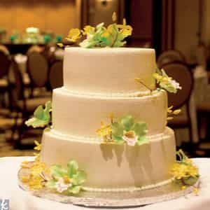 Yellow Flower Wedding Cake | Dottedi