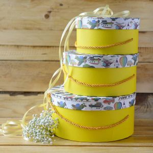 Yellow Kiddie Gift Box Round| Dottedi
