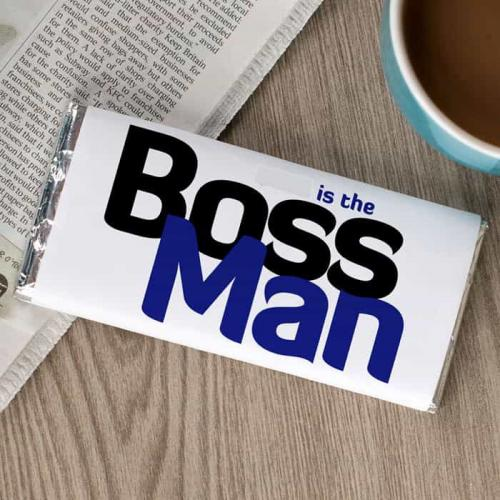Boss Man Chocolate Wrapper