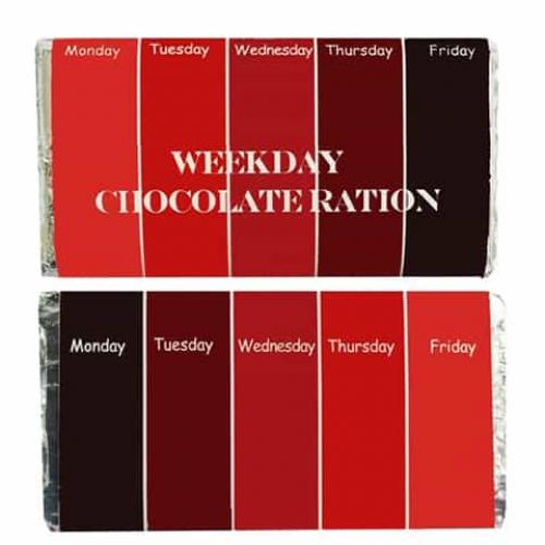 Personalized Chocolate Wrapper Weekday Chocolate