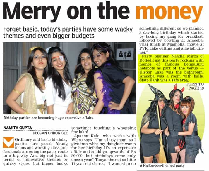 Big Budge Party Story 1 _ Deccan Chronicle - 19 Jan 2015
